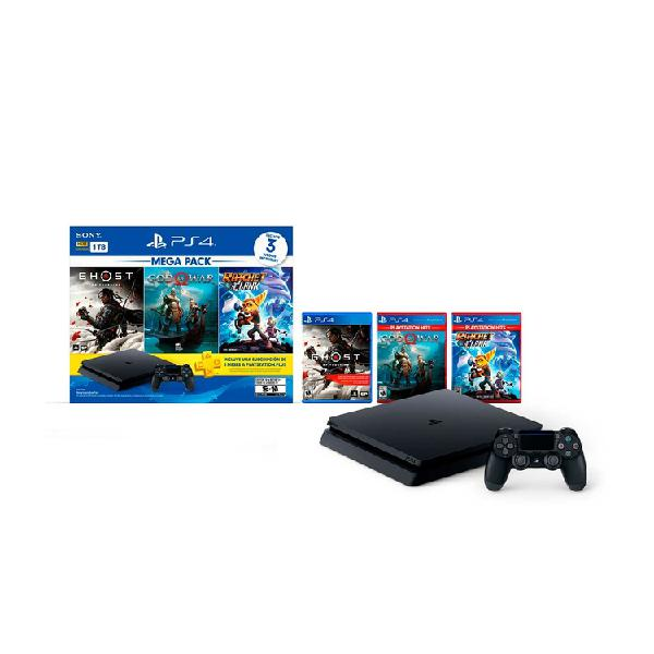 Consola PS4 Megapack 18 1 Tera + 1 Control Inalámbrico + 3