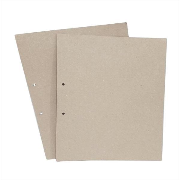 Carpeta Dos Tapas En Cartón Yute Sencilla De 330 Gra