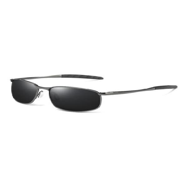Gafas lentes sol hombres polarizados retro uv400 395 gris