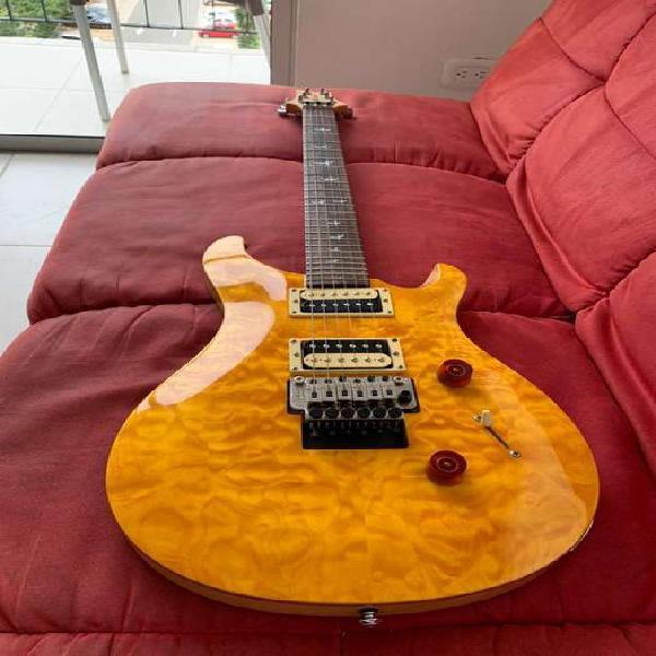 Guitarra electrica prs se custom 24 santana floydrose