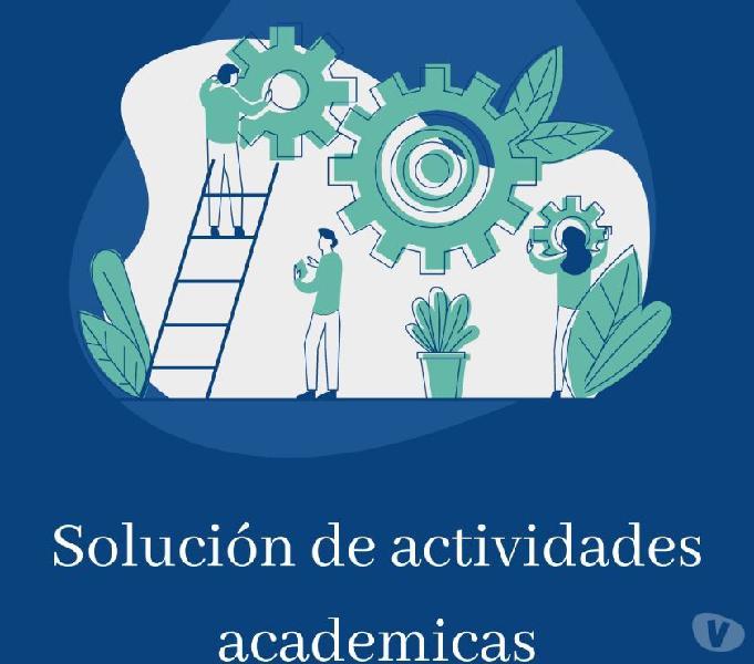 Solución de actividades y deberes académicos