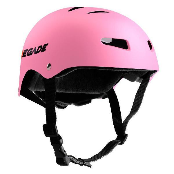 Casco de seguridad deportivo color rosado marca pyle