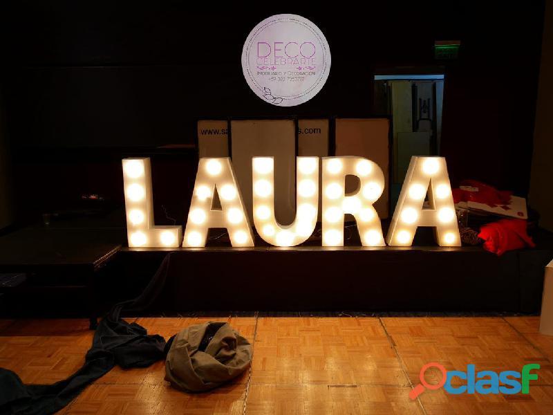letras iluminadas para eventos modernos 2