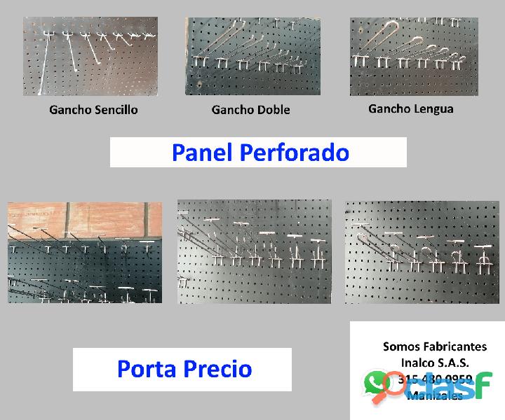 Gancho Exhibidor Panel Tabla Perforado Ranurado Rejilla Blister Interline