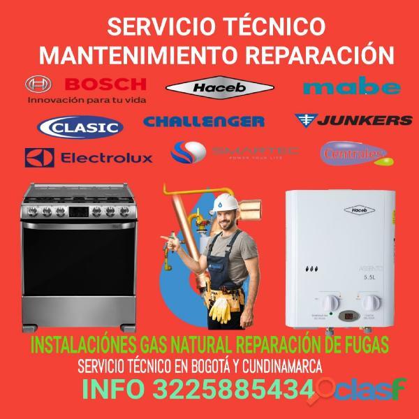 Mantenimiento Reparación de Calentadores de agua, estufas a gas