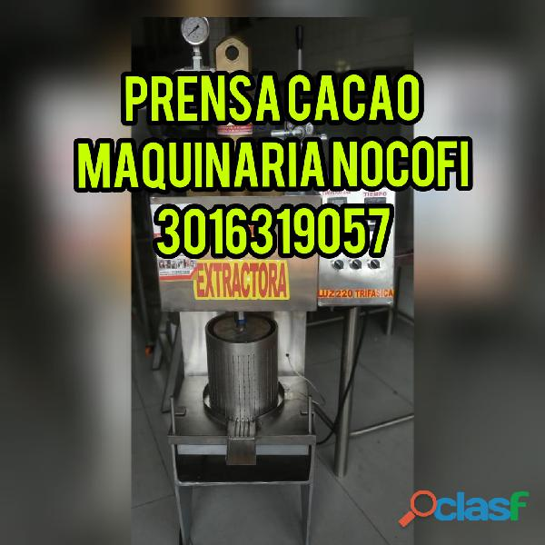 PRENSA PARA TORTA DE MANTECA DE CACAO