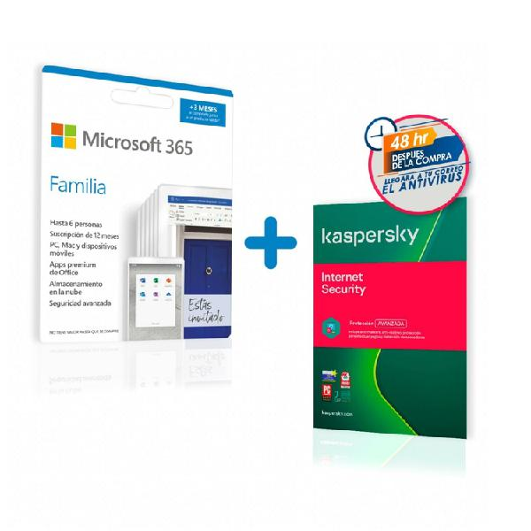 Pin microsoft office 365 familia 15 meses + antivirus