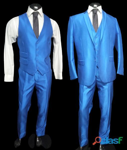 Alquiler de trajes Slim AZULES de hombre para toda ocasión en Itagüí