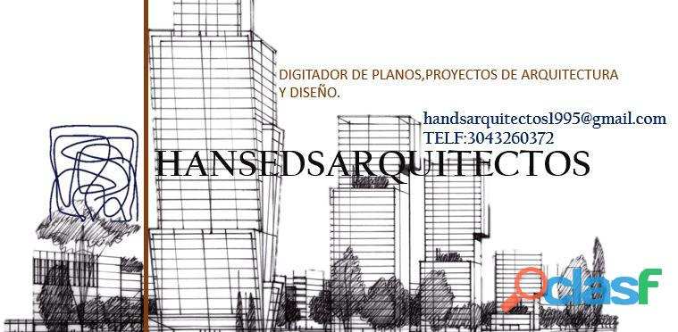 Digitador de planos, proyectos arquitectonicos