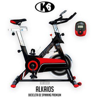 Bicicleta estática spinning de cadena con rueda de 18 kg k6