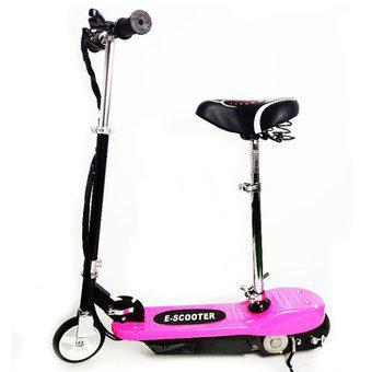 Patineta electrica e-scooter rosada