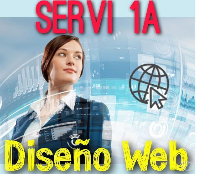 Diseño de páginas web, sitios web, servi1a, websites