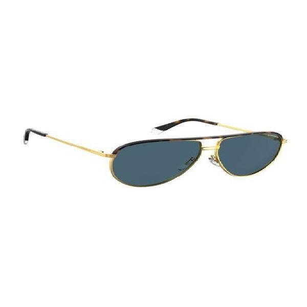 Gafas polaroid acero inoxidable dorado hombre