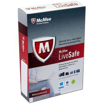 Antivirus mcafee live safe multidispositivos 1 año