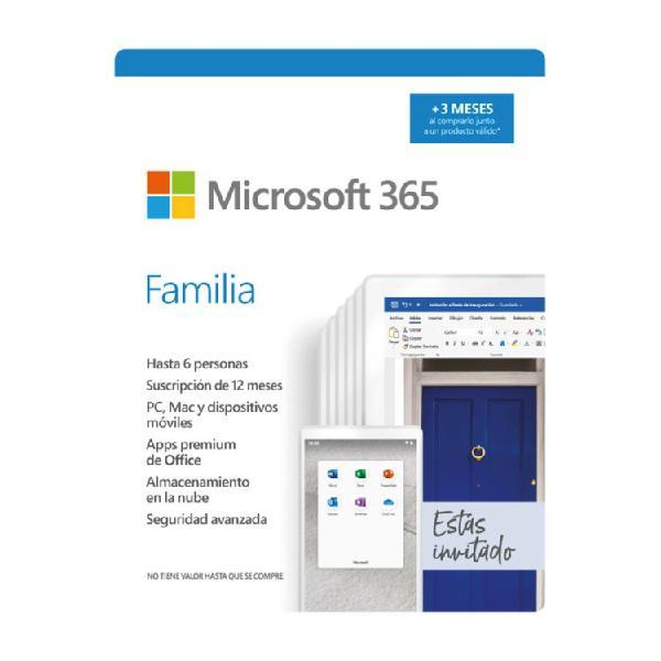 Pin microsoft office 365 familia 15 meses para 6 usuarios /