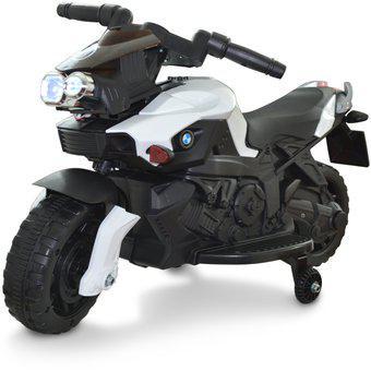 Moto Electrica Tipo BMW Montable Recargable Ruedas Apoyo