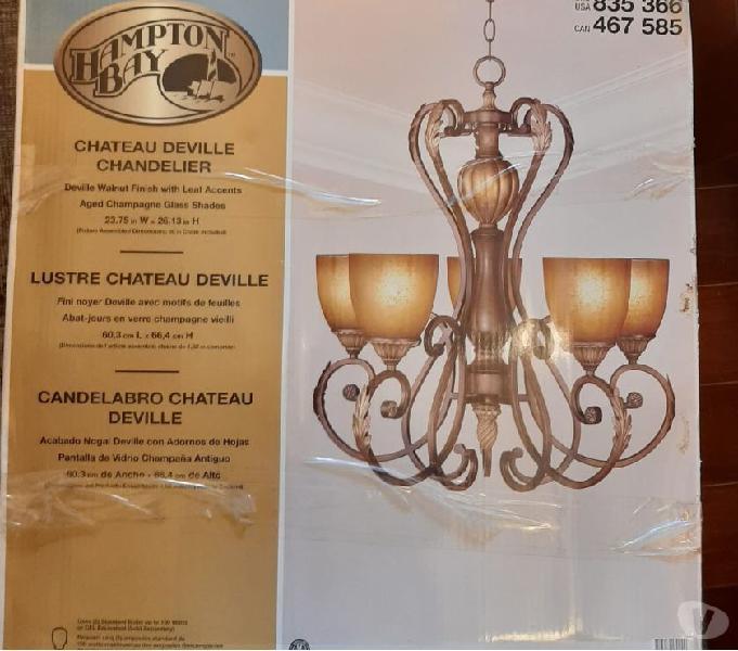 Lámpara candelabro nueva hampton bay