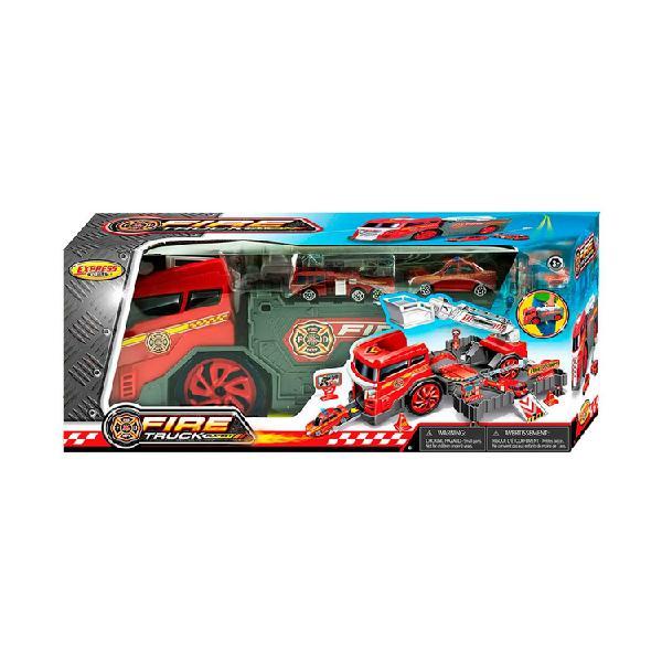 Set camión bombero de juguete 2 en 1 express wheels