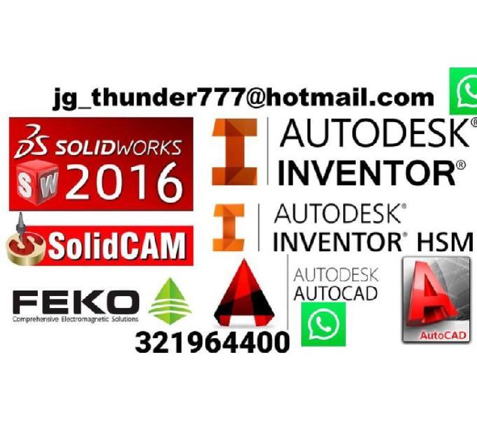 PLANOS 2D Y 3d EN: AUTOCAD, INVENTOR, SOLIDWORKS 321964400