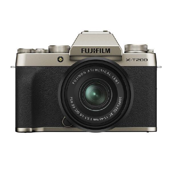 Cámara fotográfica fujifilm x-t200 xc15-45 dorado