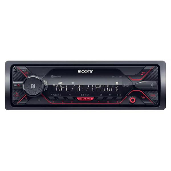Radio car audio sony 1 din dsx-a410 azul negro rojo