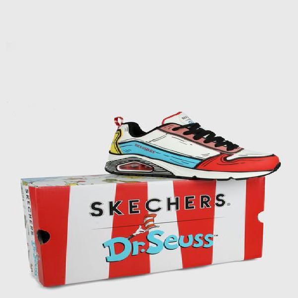 Tenis lifestyle blanco-multicolor skechers jumps and kicks