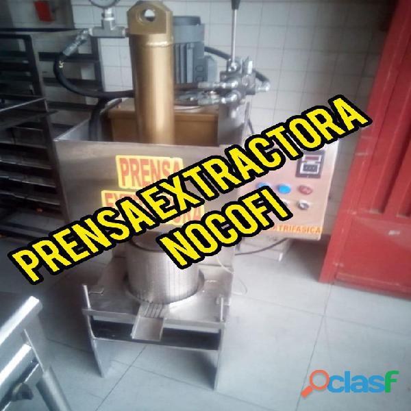 Ficha tecnica y prensa de cacao con manual de uso