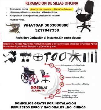 oficina reparacion de sillas y limpieza demuebles en cali